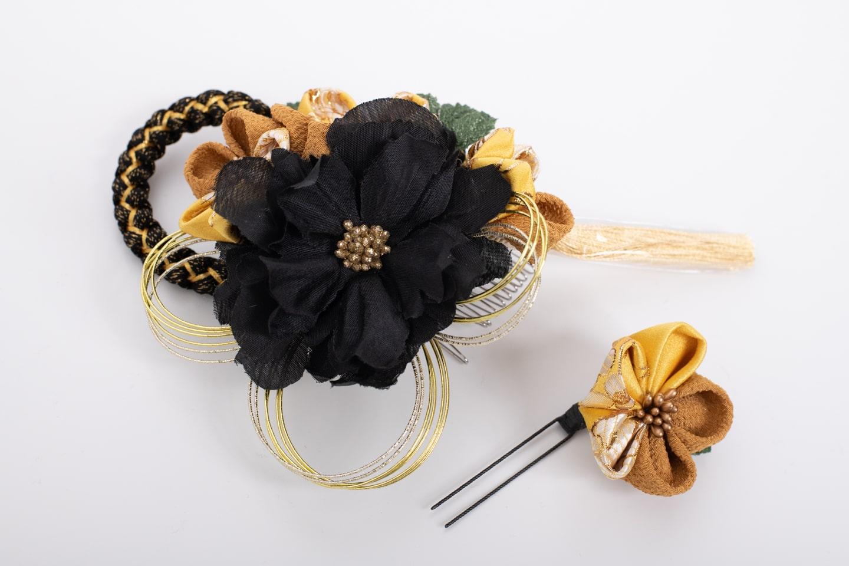 髪飾り_黒&黄色