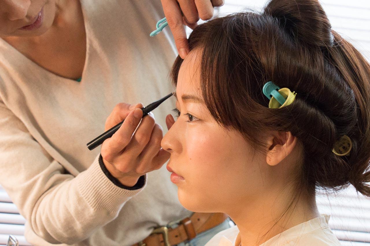 成人式の振袖前撮り撮影〜ヘアメイクお化粧〜